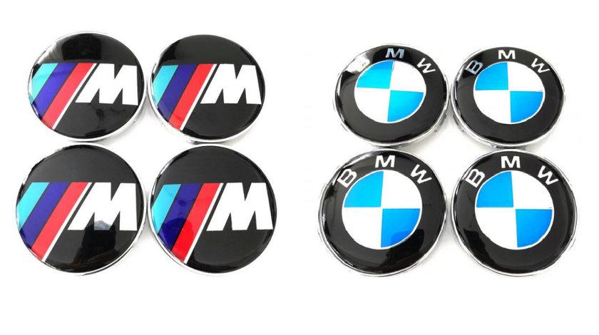 Capace Capacele Embleme centrale jante roti BMW 68 mm