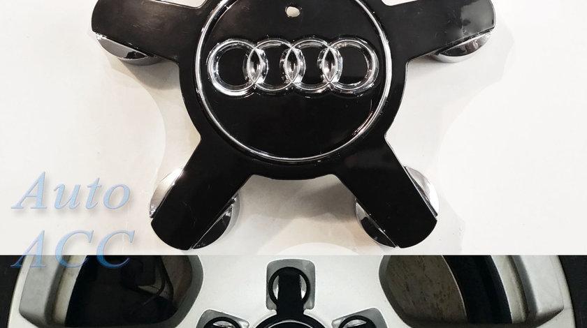 Capace jante aliaj Audi A4 A5 A6 A8 - 4FO 601 165 N – negre - tip gheara / stea