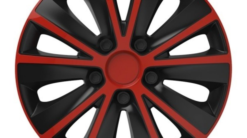 Capace roata 13 inch Versaco Rapide, Rosu si Negru Kft Auto
