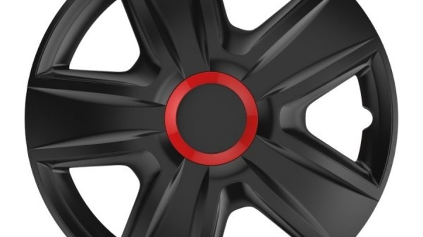 Capace roata 14 inch Esprit RR , Negru si Rosu Kft Auto