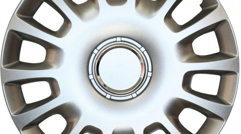 Capace roata 14 inch tip Opel, culoare Silver 14-214