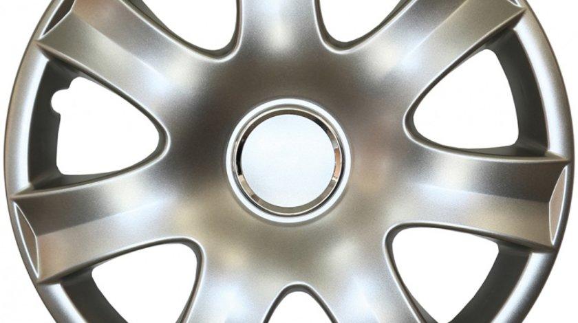 Capace roata 14 inch tip Peugeot, culoare Silver 14-223