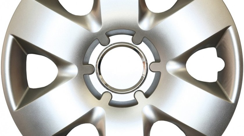 Capace roata 14 inch tip Renault, culoare Silver 14-215