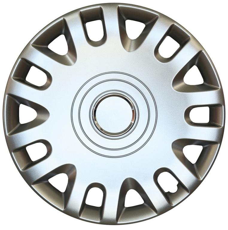 Capace roata 15 inch tip Fiat, culoare Silver 15-333