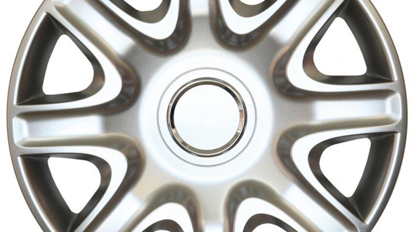 Capace roata 15 inch tip Peugeot, culoare Silver 15-332