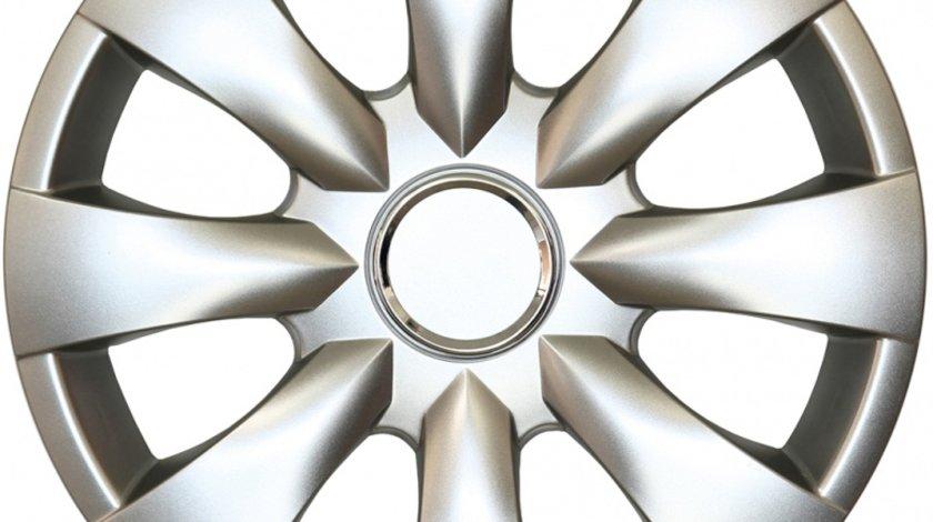 Capace roata 15 inch tip Toyota, culoare Silver 15-316