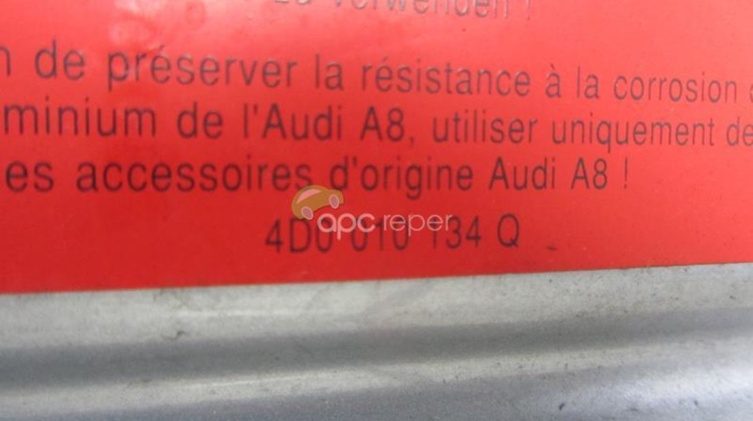 Capota motor Audi A8 4E 2003 - 2005 Nonfacelift Originala Aluminiu Echipata