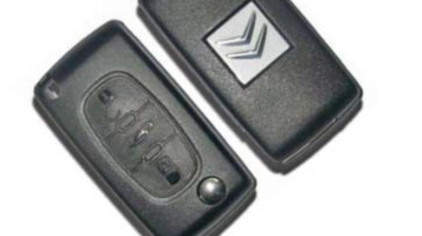 Carcasa cheie 3 butoane cu suport baterie Citroen 407, cod Crcs376 - CC382640