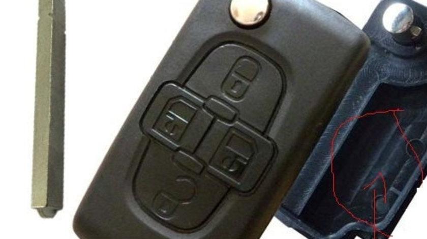 Carcasa cheie 4 butoane, fara suport baterie, lamele dreapta Citroen 307, cod Crcs361 - CC482625