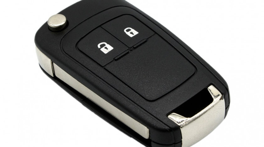 Carcasa cheie auto briceag cu 2 butoane, compatibil Opel OP-131