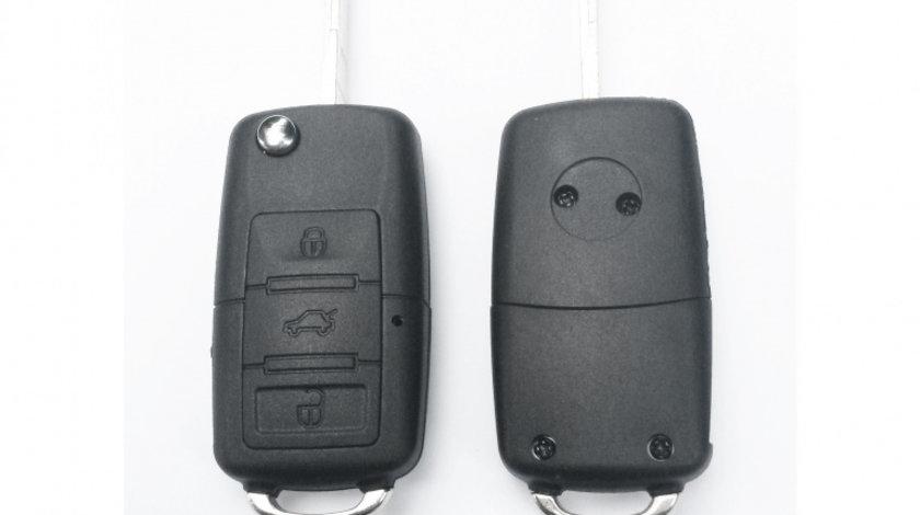 Carcasa cheie auto briceag cu 3 butoane, compatibila Volkswagen VW-181