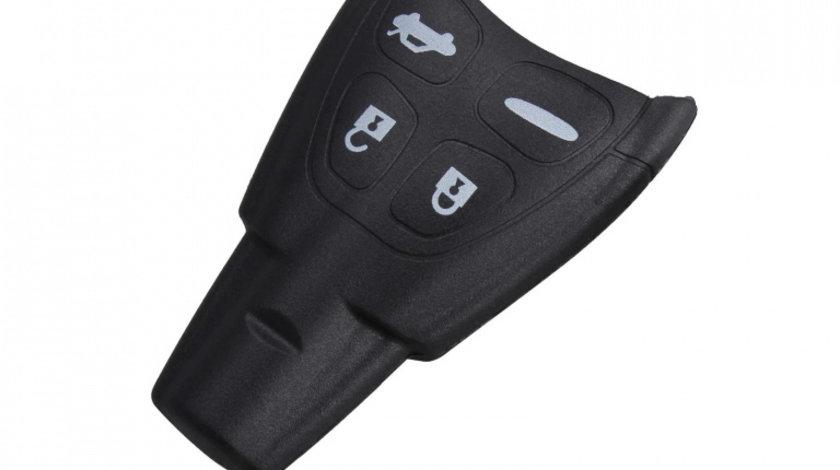 Carcasa cheie auto cu 4 butoane, compatibila Saab SA-102
