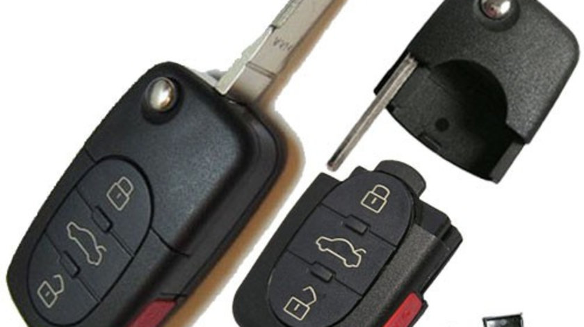 Carcasa cheie briceag 3+ buton panica rotunde Vw, cod Crcs997 - CCB83202