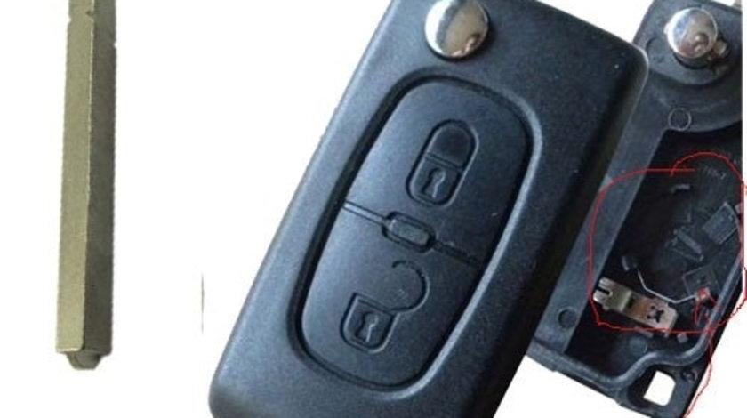 Carcasa cheie Citroen 2 butoane , suport baterie, lamela dreapta, cod Crcs336 - CCC82600