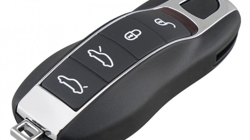 Carcasa cheie Porsche 4 Butoane +Buton Panica CPO 014