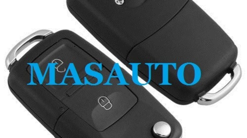 Carcasa cheie/telecomanda 2 butoane VW,Seat,Skoda tip briceag negru