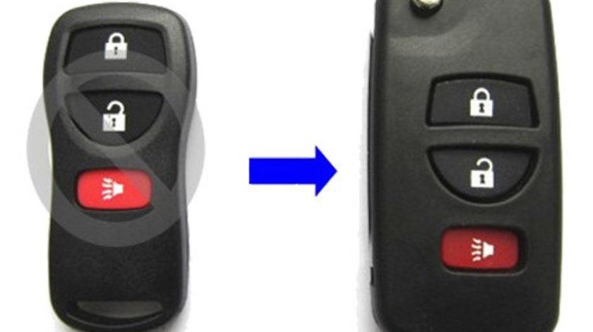 Carcasa cheie transformare 2 + 1 butoane Nissan, cod Crcs731 - CCT83011