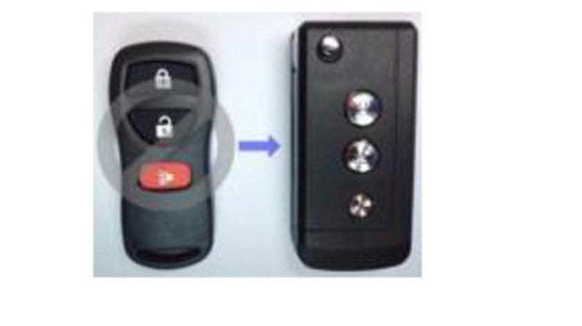 Carcasa cheie transformare 3 butoane Nissan Tiida, cod Crcs736 - CCT83016