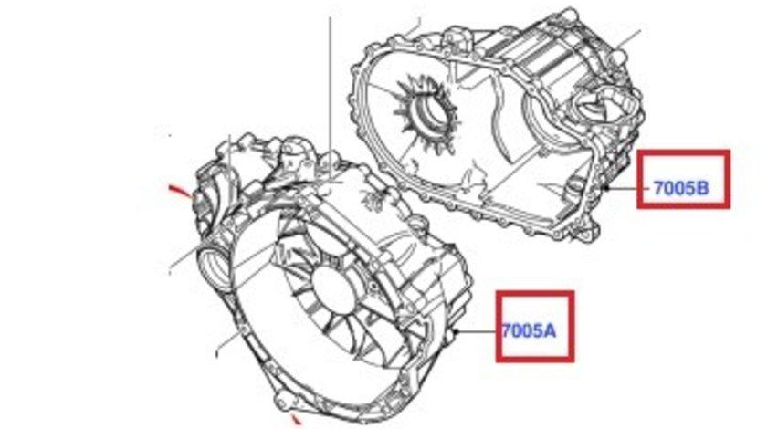 Carcasa cutie de viteze manuala Ford transit VMT6, 2006-2014, 6 trepte
