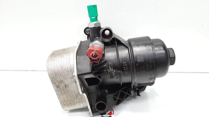 Carcasa filtru ulei cu racitor, Skoda Octavia 3 (5E3) [Fabr 2012-prezent] 1.6 tdi, DDY, 03N115389K, 03N117021