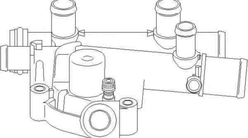 carcasa termostat RENAULT LAGUNA II BG0/1 TOPRAN 207 592