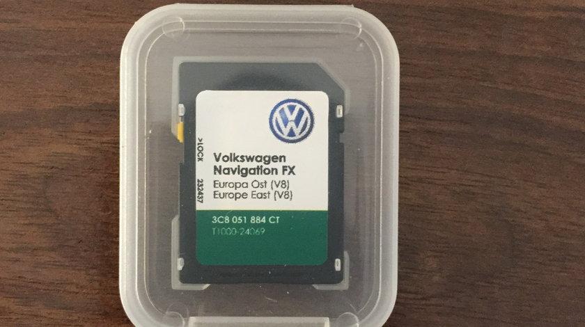 CARD harta navigatie Volkswagen VW RNS310 EUROPA ROMANIA 2018 V10