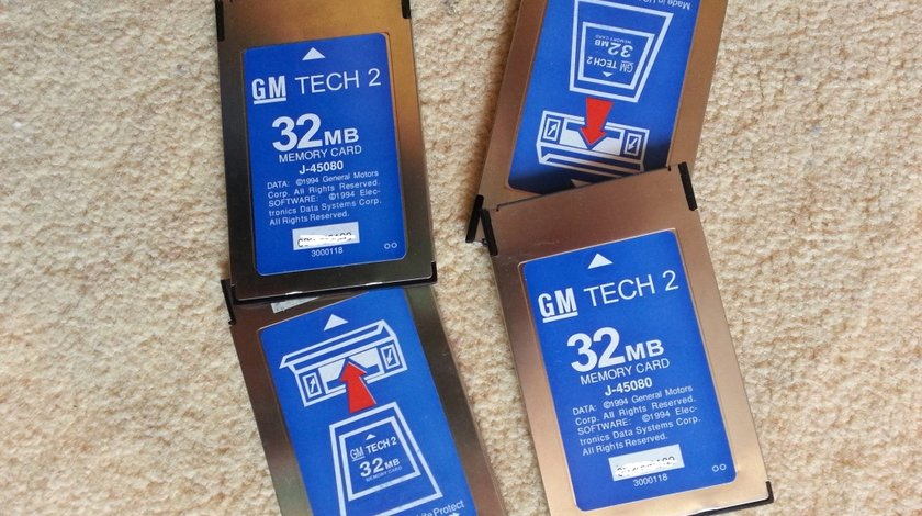 Card memorie PCMCIA pentru GM TECH2 de 32MB, Opel, Saab, Isuzu, Suzuki