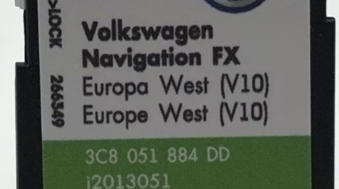 Card SD ORIGINAL VW RNS310 Europe de West 2018 V10