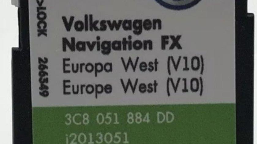 Card SD ORIGINAL VW RNS310 Europe de West 2018 V10
