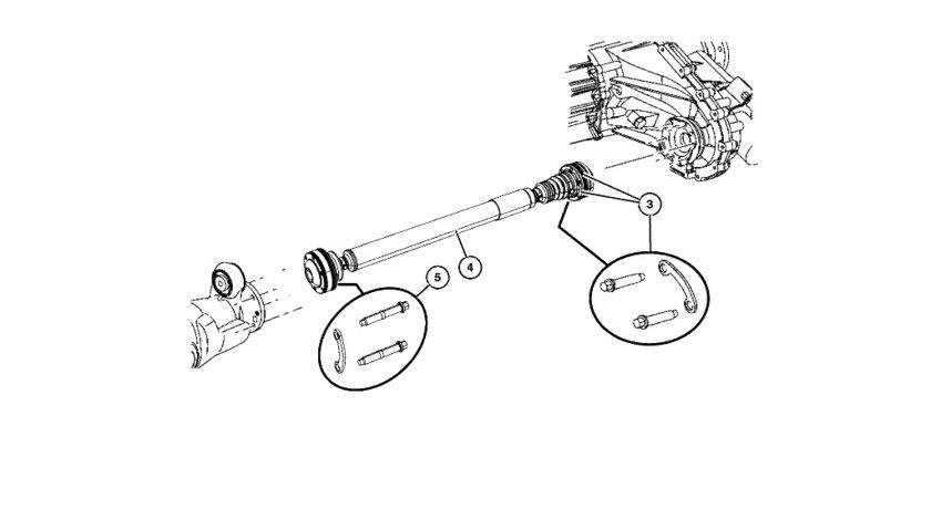Cardan spate Jeep Grand Cherokee (poz.1) CHRYSLER OE 52853006AF