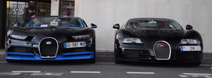 Care erau sansele sa se intample asta? A pozat noua masina de la Bugatti... exact langa cea veche!