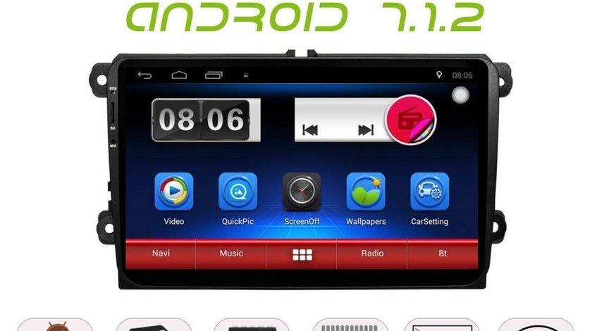 Carpad Navigatie Android 7.1 Dedicata Volkswagen Skoda Seat NAVD-E9800 V1 Quad Core 9 inch GPS WAZE