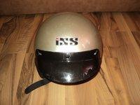 casca moto motociclist chopper IXS cu cozoroc masura L (59,60) ,crem-auriu