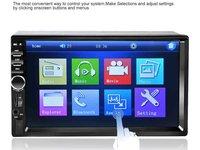 Casetofon DVD Player Auto Display7 inch Bluetooth Hands Free,card,USB 2Din Universal Livrare Tara