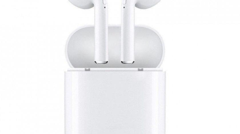 Casti i7 Mini Alb Wireless Bluetooth High Definition Music Microfon Telefon Siegbert ET0001