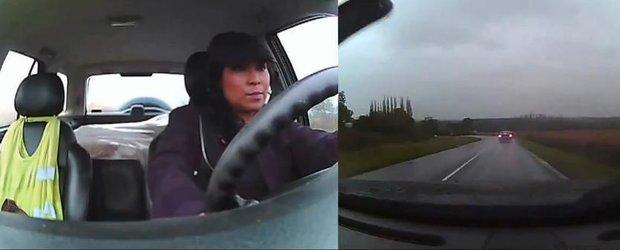 Cat de calme sunt femeile la volan? Ne arata o rusoaica atunci cand se rastoarna