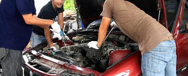 Cat de repede se scoate un motor si se pune altul pe un BMW E36?