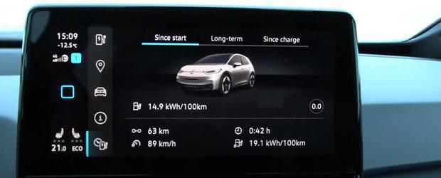 Cat este de bun noul VW ID.3 pe timp de iarna. Plus, autonomia obtinuta la -8 grade Celsius