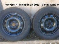 Cauciucuri de iarna GOLF 4 -Michelin 195 65 R 15 uzura 1 mm