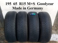 Cauciucuri iarna 7,3 mm 195 65 R15 Goodyear VW Golf 5 Touran Passat