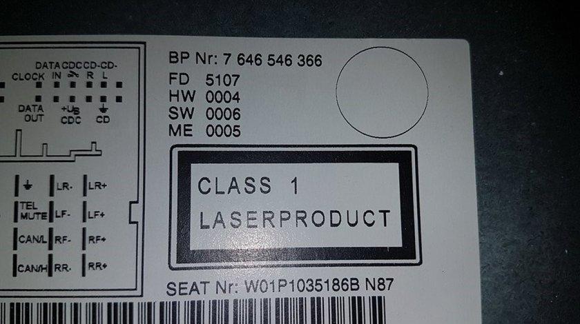 Cd player 1p1035186b cu mp3 seat leon 1p 2005-2010