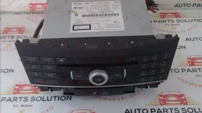 CD Player MERCEDES BENZ E CLASS (W212) 2009-2014