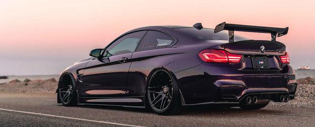 Ce atata Alpine White si elemente M Performance? El si-a culcat BMW-ul pe burta si l-a vopsit violet