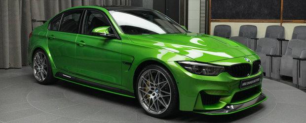 Ce atata negru, alb sau albastru. El si-a configurat BMW-ul M3 in Java Green pentru a atrage toate privirile