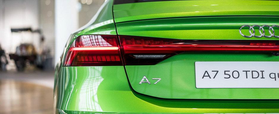 Ce atatea culori anoste. El si-a comandat noul AUDI A7 Sportback in Java Green si atrage toate privirile