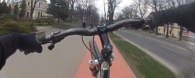 Ce cauta pietonii pe pistele special amenajate pentru biciclete?