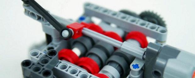Ce mai poti face din LEGO: cutia de viteze complet functionala