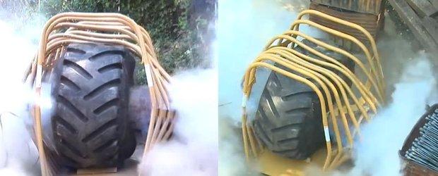 Ce pagube poate face explozia unei anvelope?