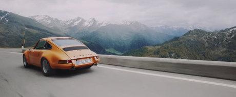 Ce poate fi mai frumos decat un filmulet cu 9 modele Porsche alergate prin Alpi?