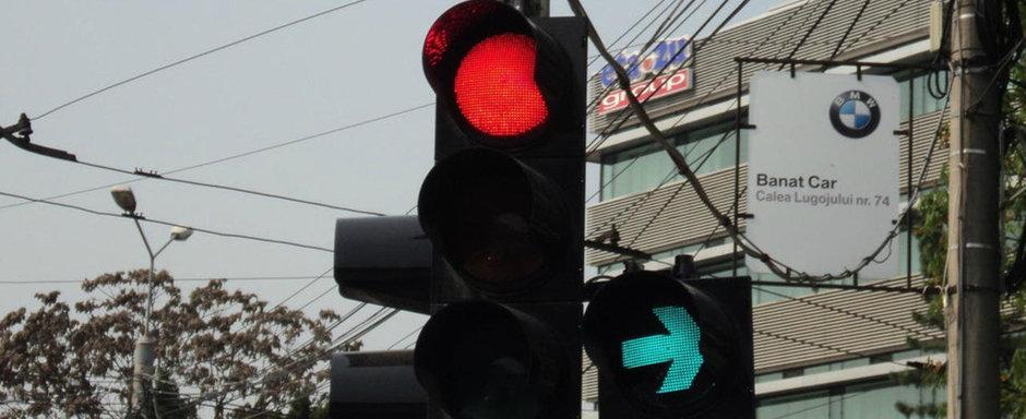 Ce trebuie sa facem daca avem semafor verde intermitent la dreapta?